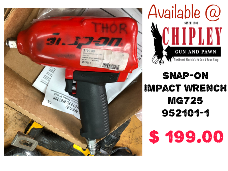 Snap-On Impact Wrench, MG725, 952101-1, $199 00